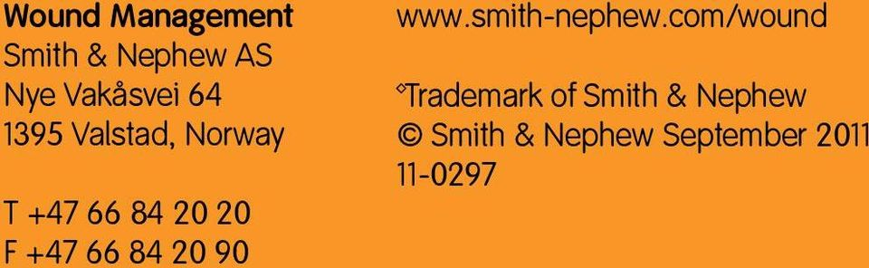 66 84 20 90 www.smith-nephew.