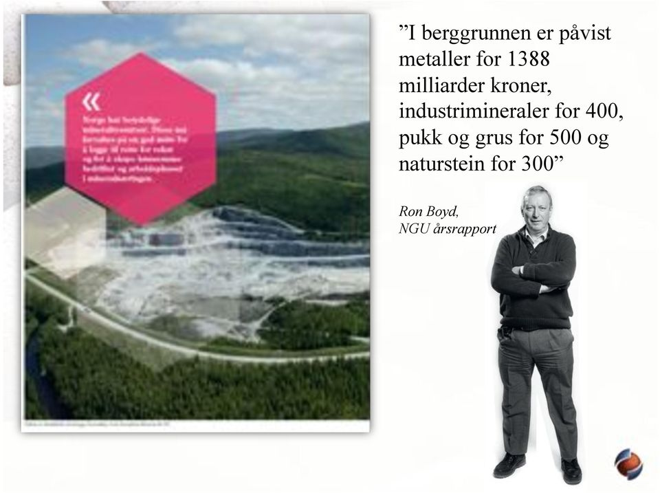 industrimineraler for 400, pukk og