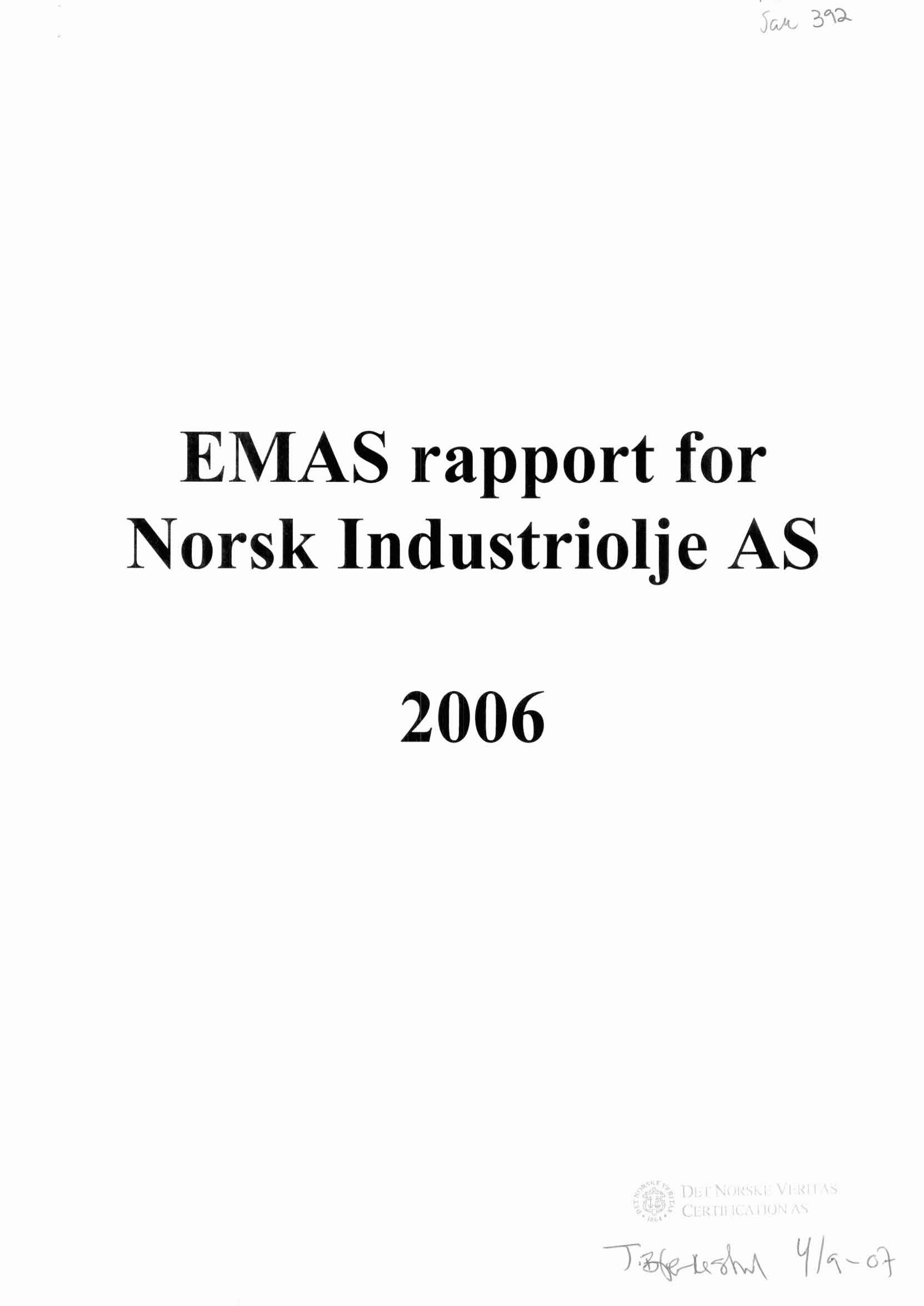 EMAS rapport for