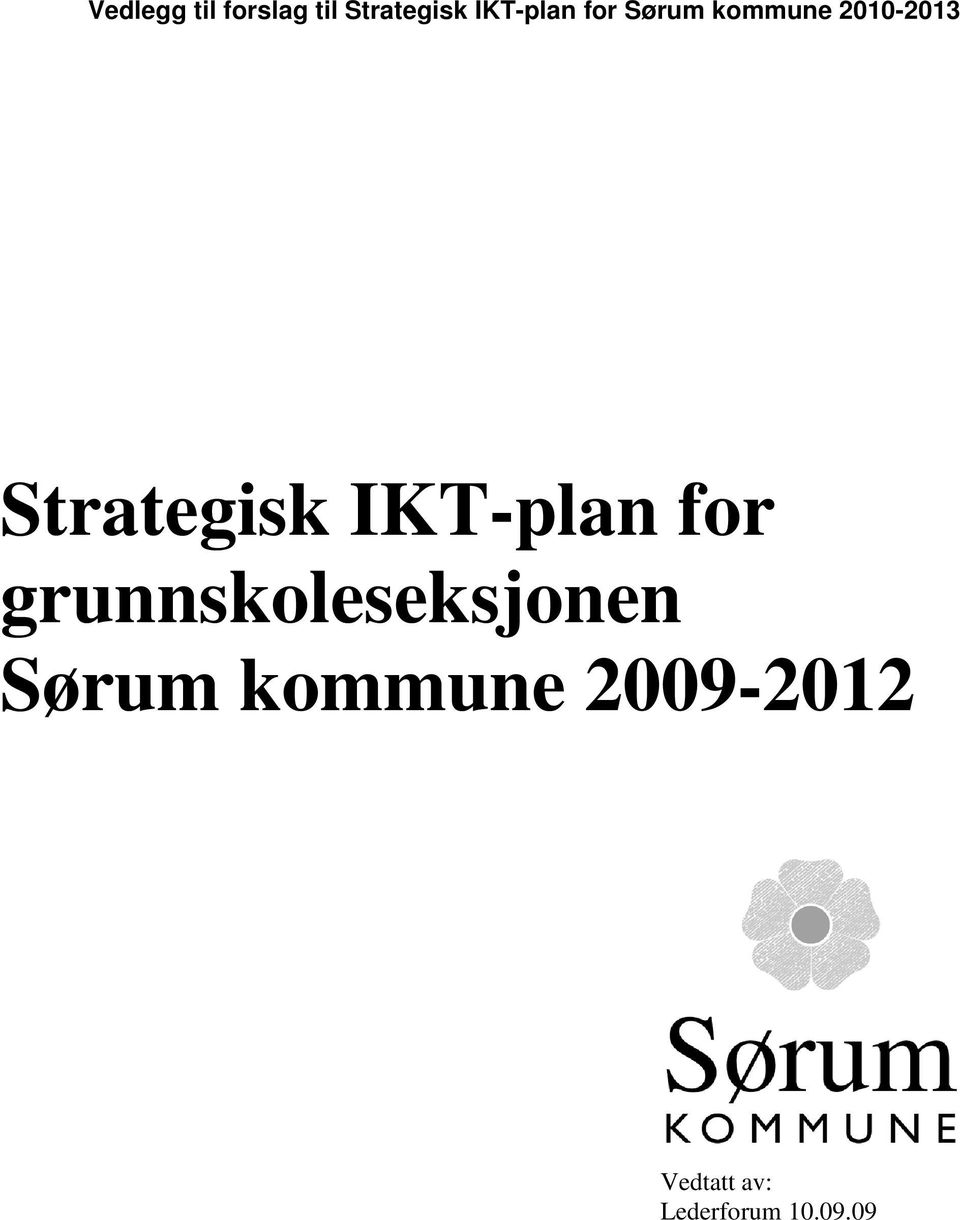 Strategisk IKT-plan for