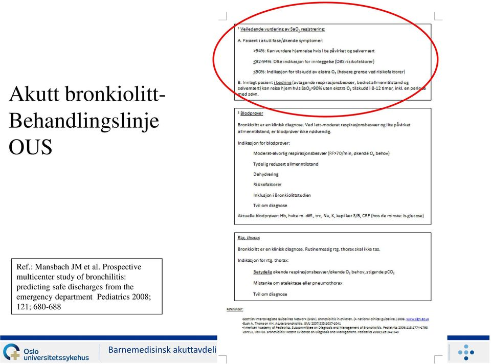 Prospective multicenter study of bronchilitis: