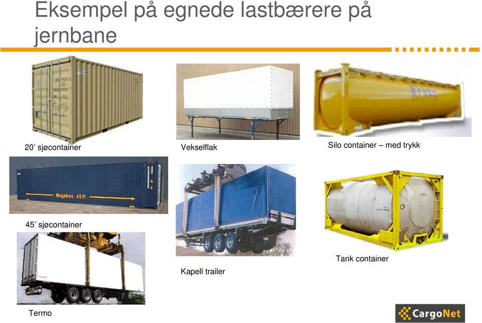 Silo container med trykk 45