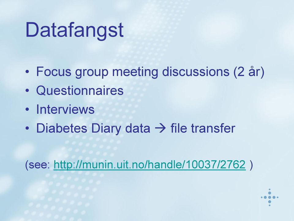 Interviews Diabetes Diary data file