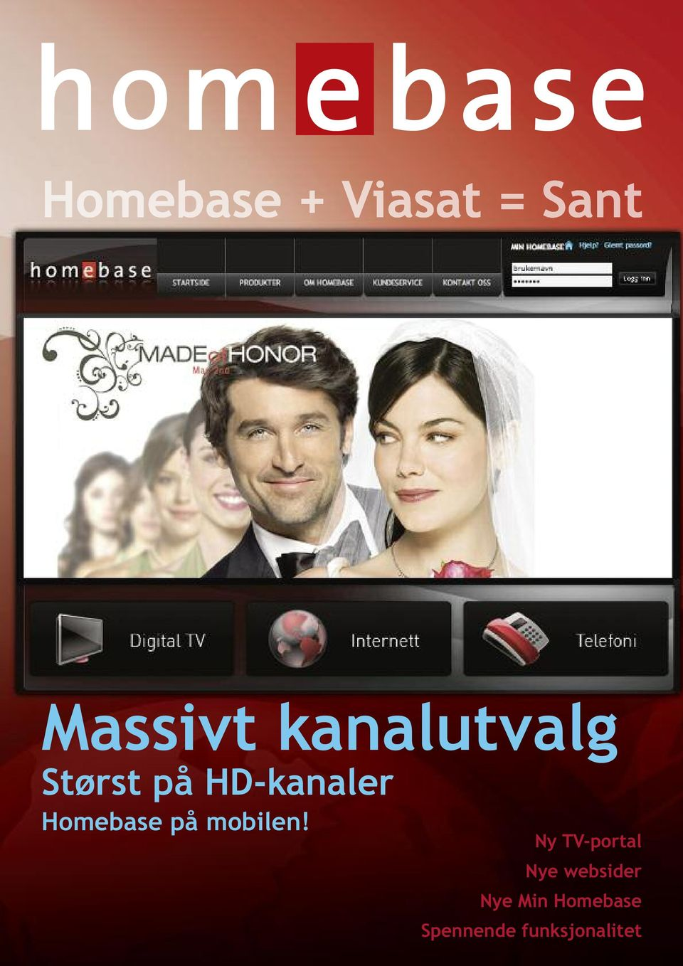 Ny TV-portal Nye websider Nye