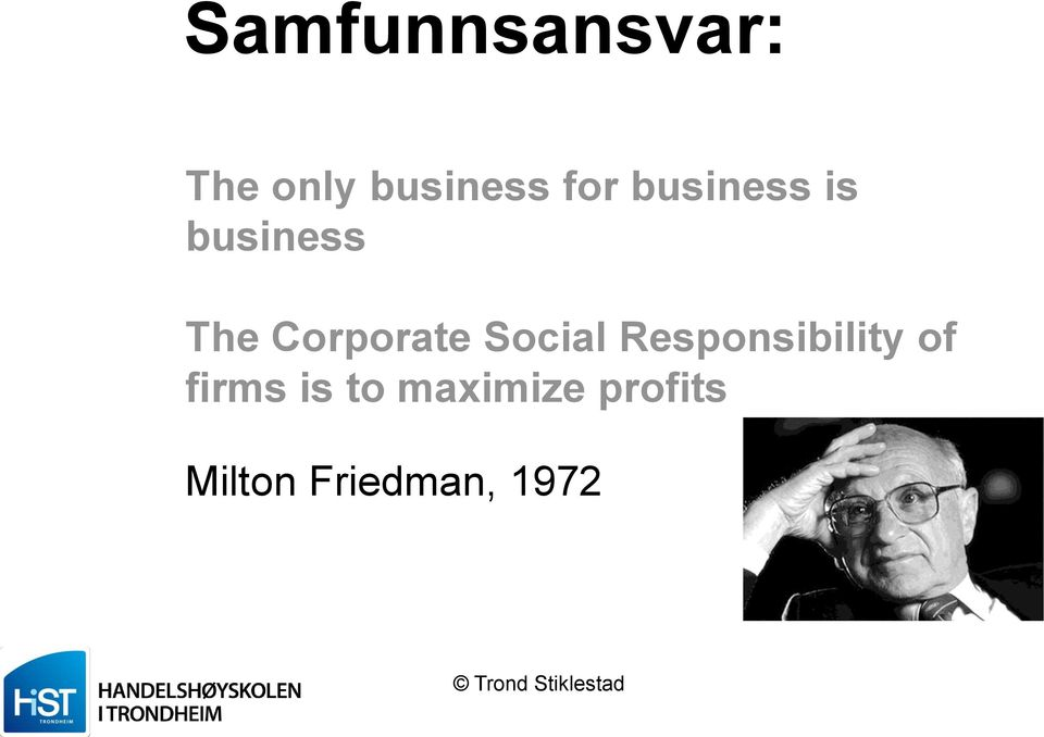 Corporate Social Responsibility of