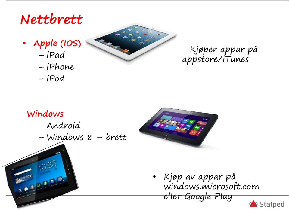Android Windows 8 brett Kjøp av appar