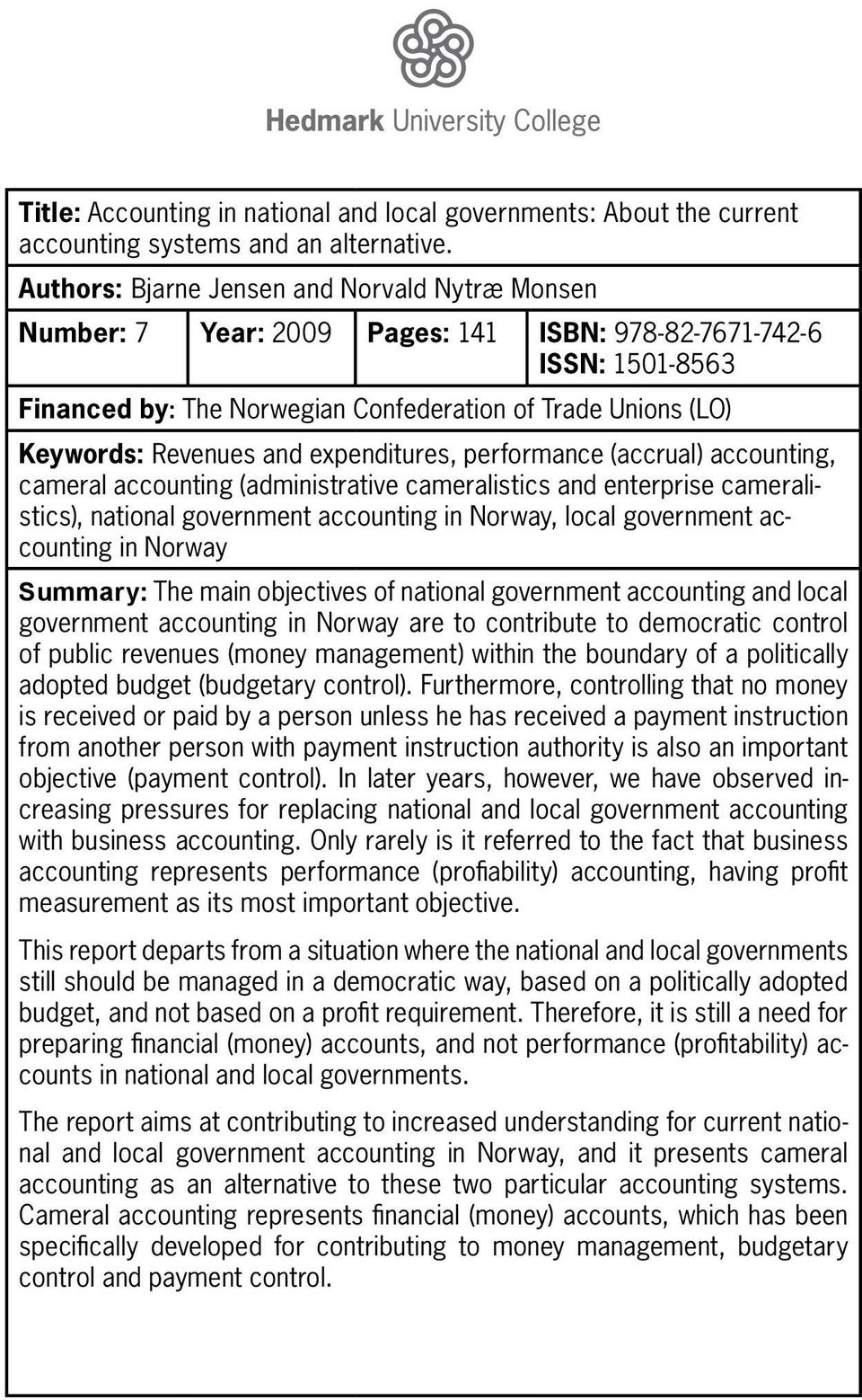 objectives of public sector accounting pdf