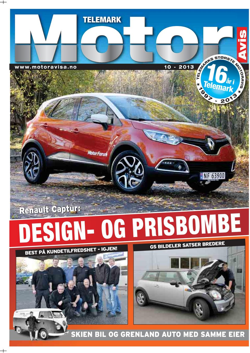 no 10-2013 1 9 9 7-2 0 1 3 Renault Captur: DESIGN- OG