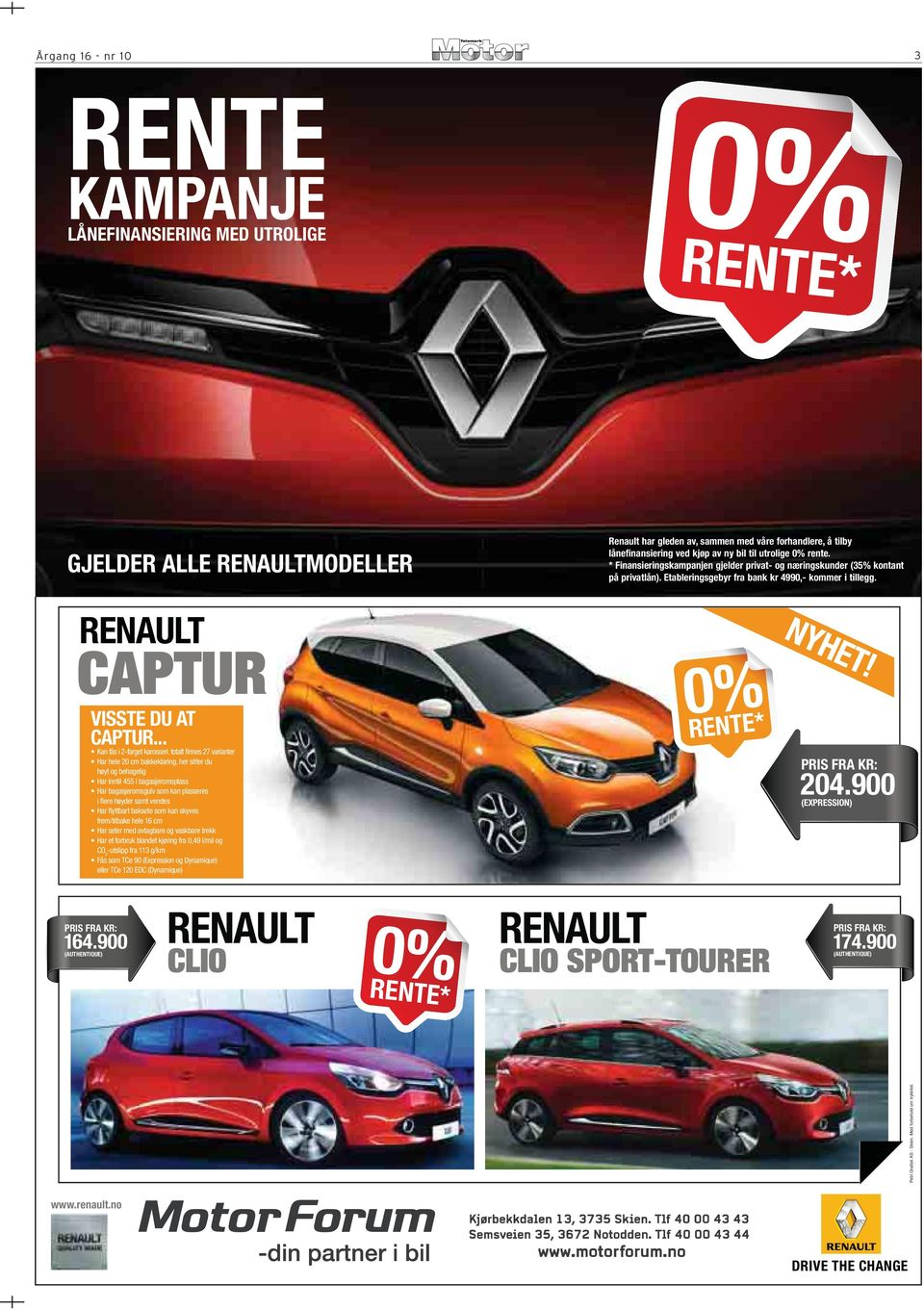 RENAULT CAPTUR 0REN% TE* VISSTE DU AT CAPTUR.
