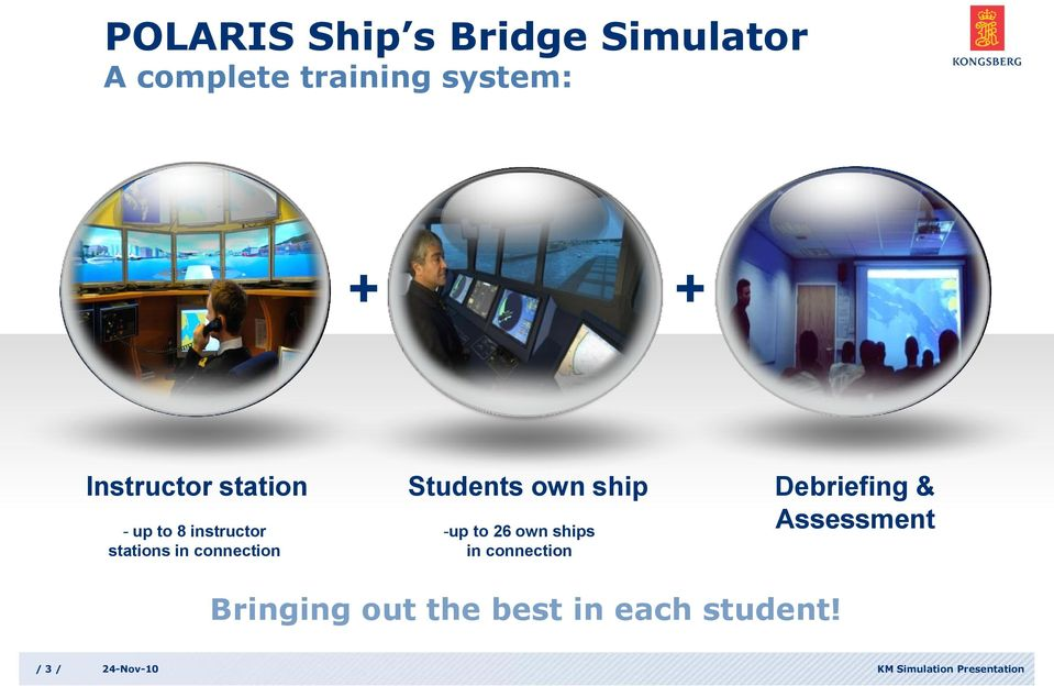 ship Debriefing & Assessment - up to 8 instructor stations in connection -up