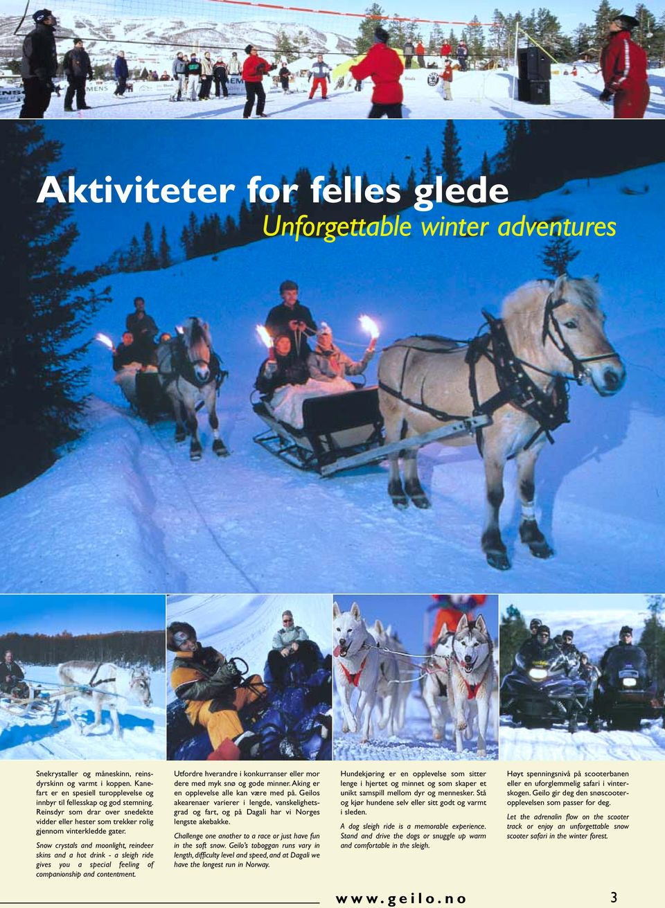 Snow crystals and moonlight, reindeer skins and a hot drink - a sleigh ride gives you a special feeling of companionship and contentment.