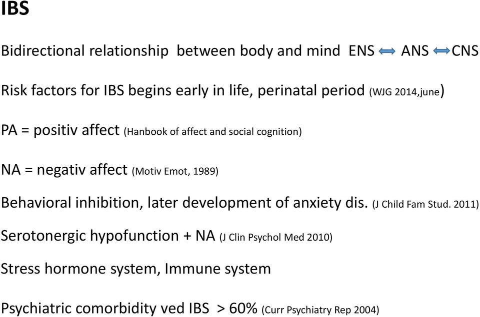 1989) Behavioral inhibition, later development of anxiety dis. (J Child Fam Stud.