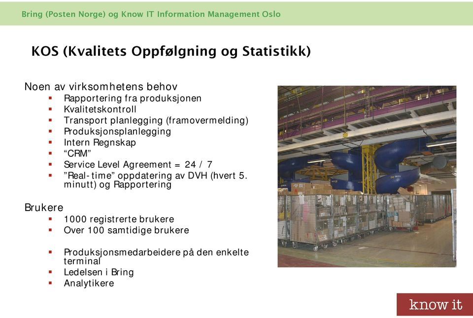 Level Agreement = 24 / 7 Real-time oppdatering av DVH (hvert 5.
