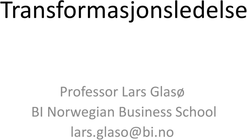 BI Norwegian Business