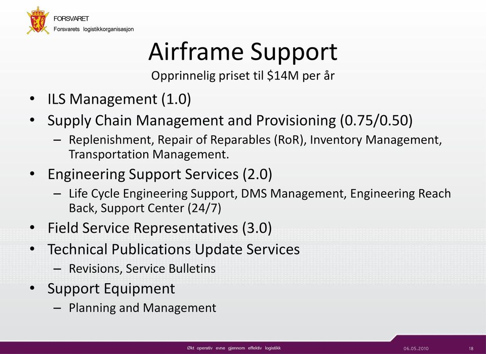 Engineering Support Services (2.