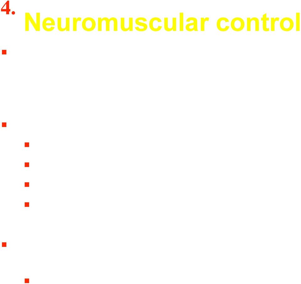 stability (Lephart & Fu 2000)! Neuromuscular control!