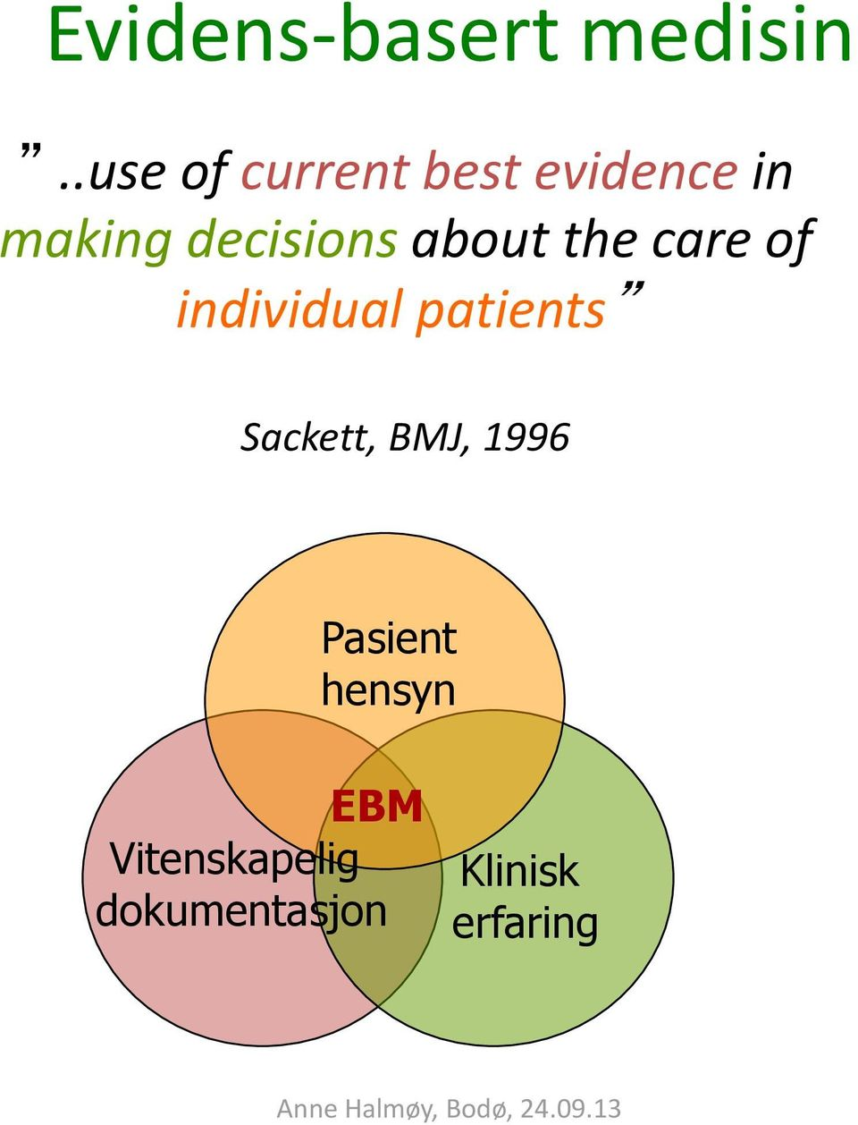 decisions about the care of individual patients