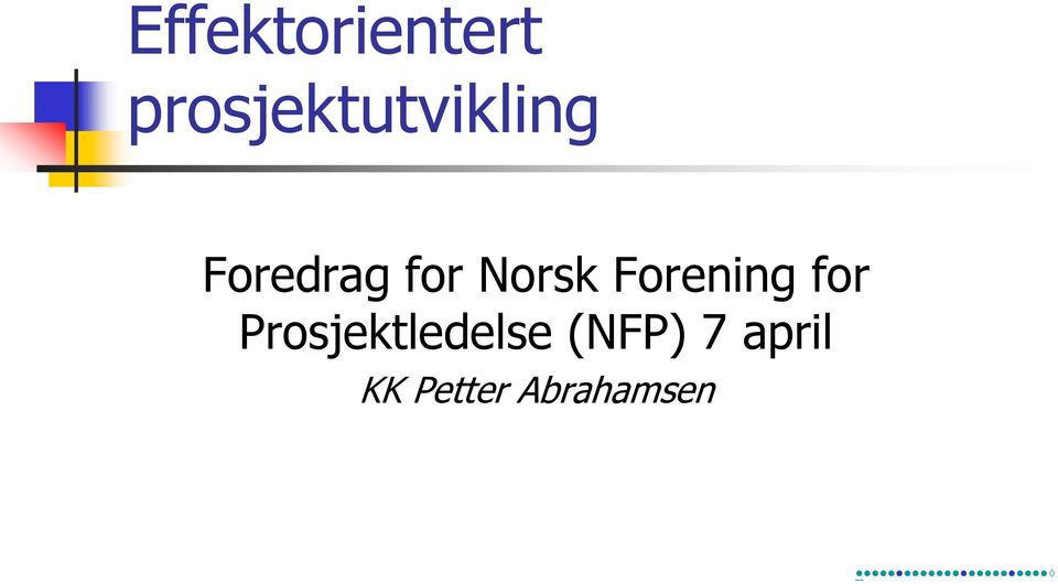 for Norsk Forening for