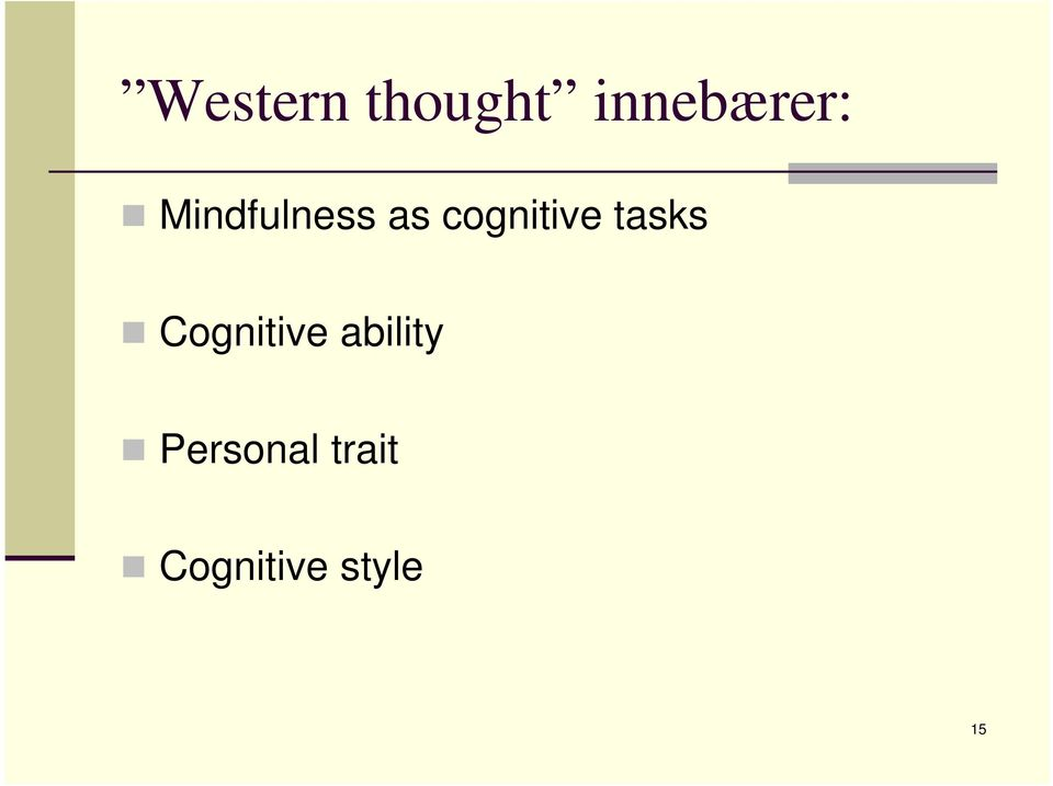 tasks Cognitive ability