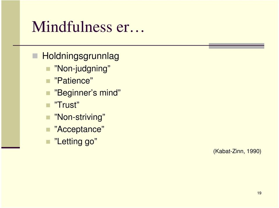 mind Trust Non-striving