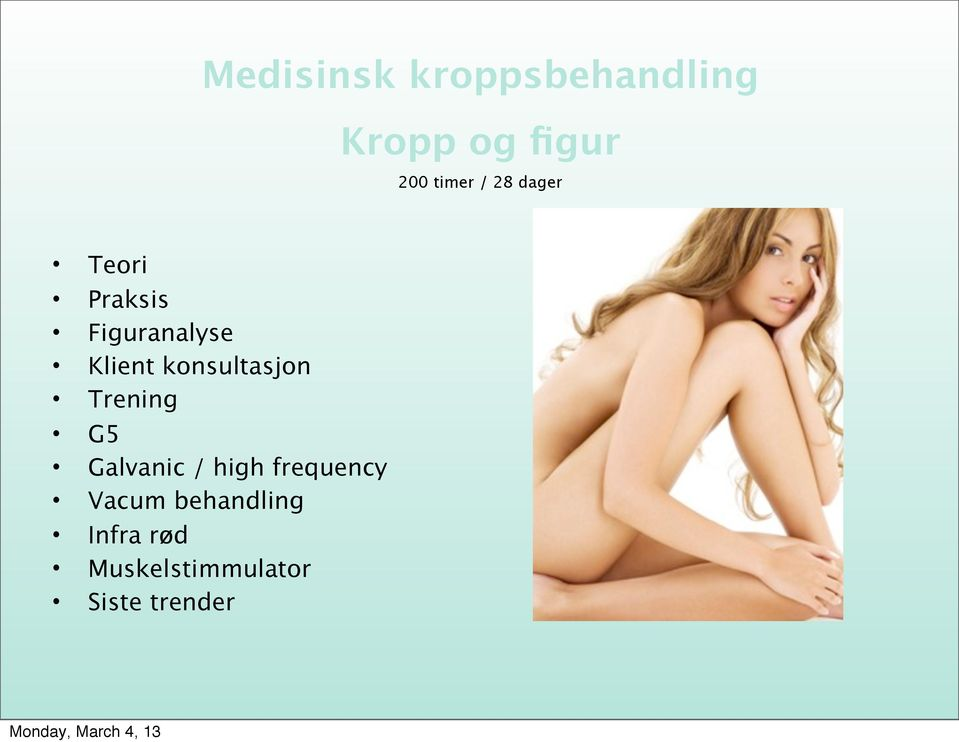 konsultasjon Trening G5 Galvanic / high frequency