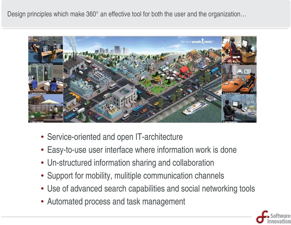 Un-structured information sharing and collaboration Support for mobility, mulitiple communication