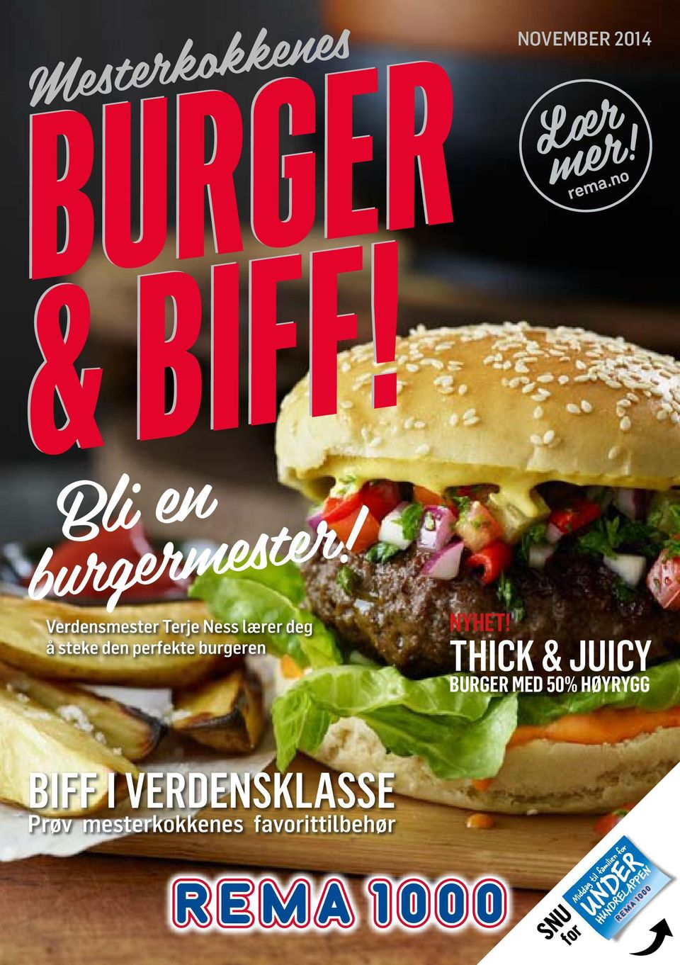 thick & JUICY BURGER