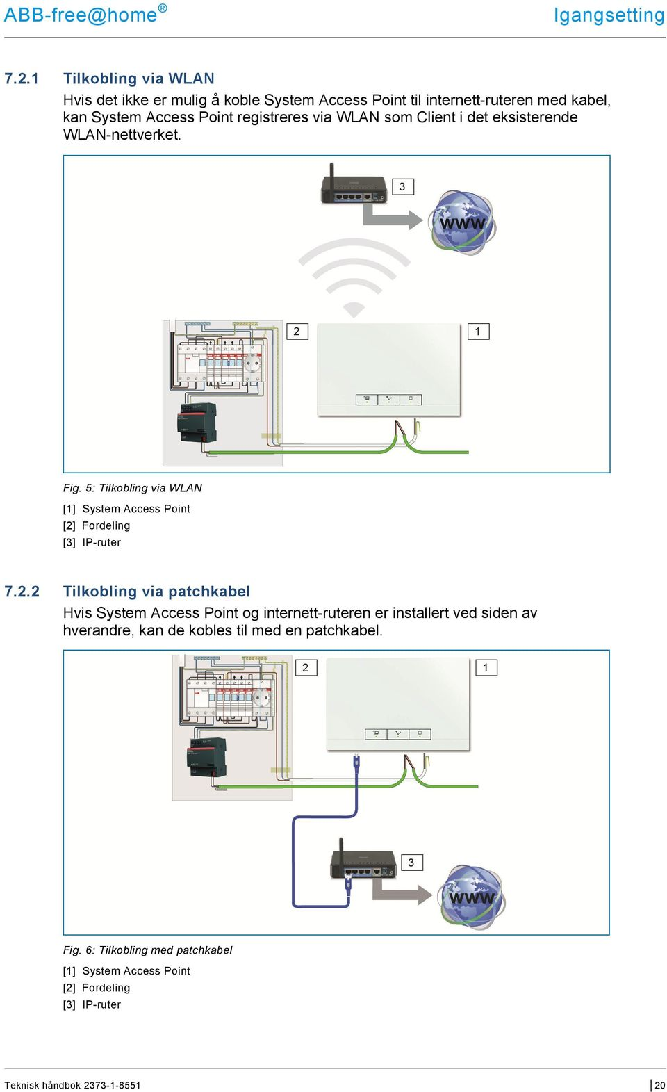 5: Tilkobling via WLAN [1] System Access Point [2]