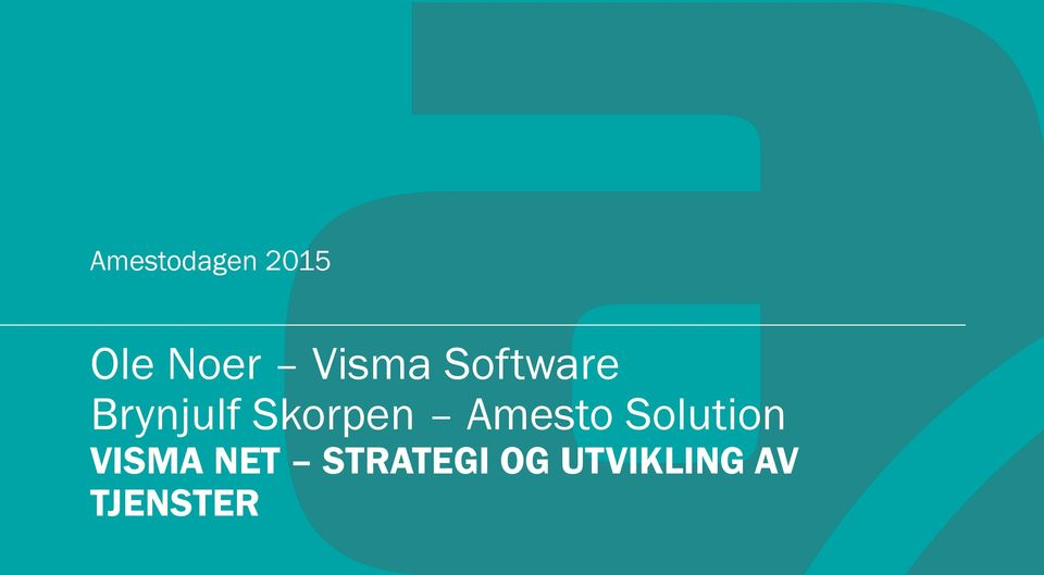 Skorpen Amesto Solution VISMA
