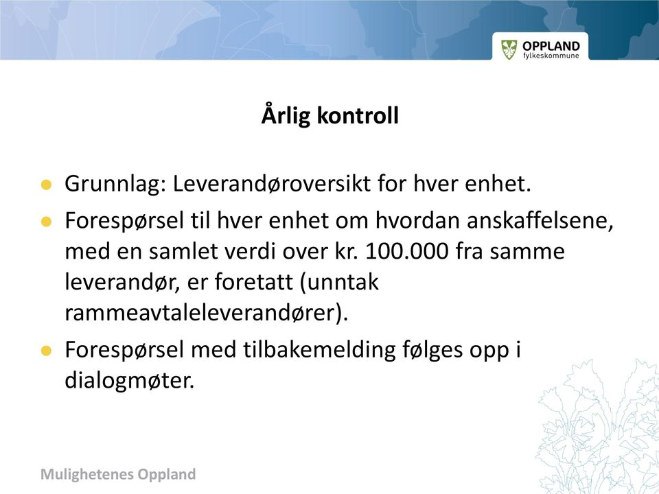 verdi over kr. 100.