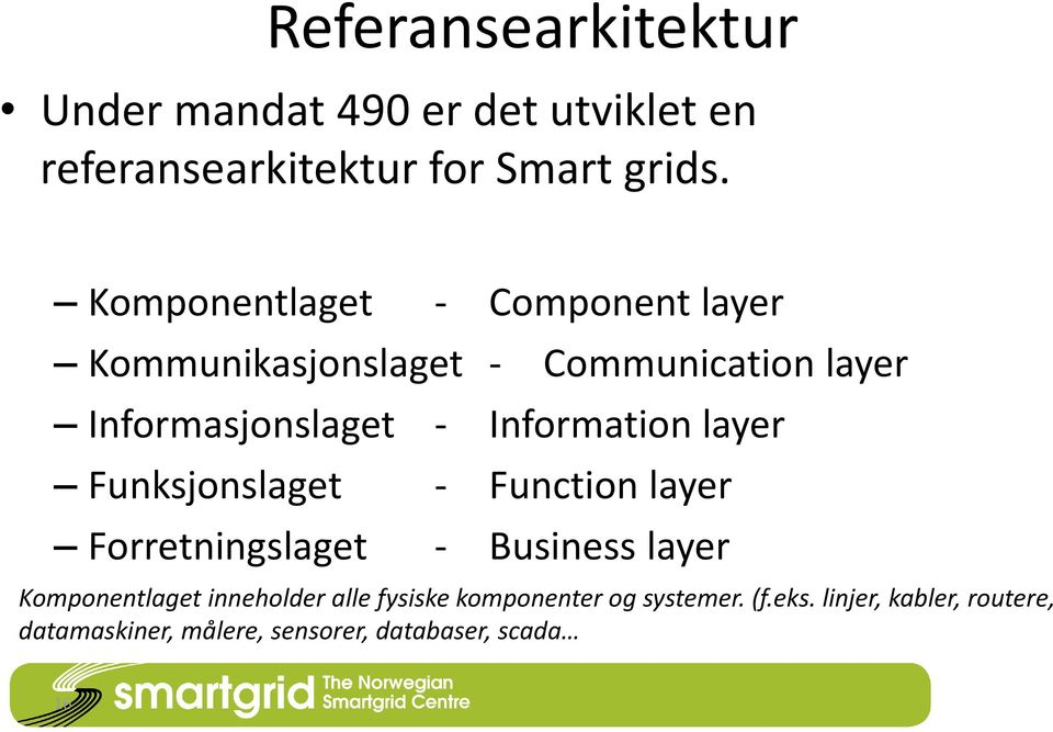Information layer Funksjonslaget - Function layer Forretningslaget - Business layer Komponentlaget