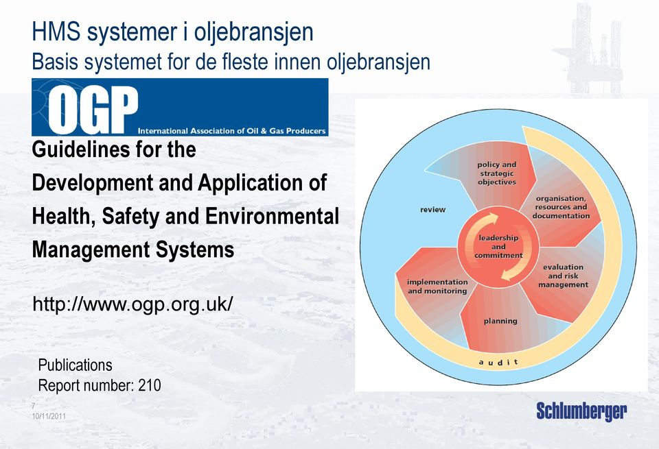 Application of Health, Safety and Environmental Management