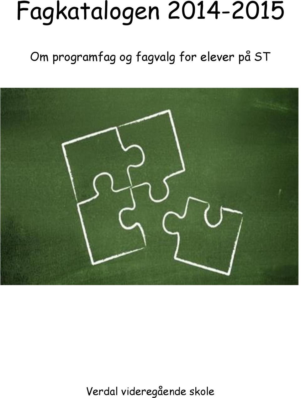 fagvalg for elever på