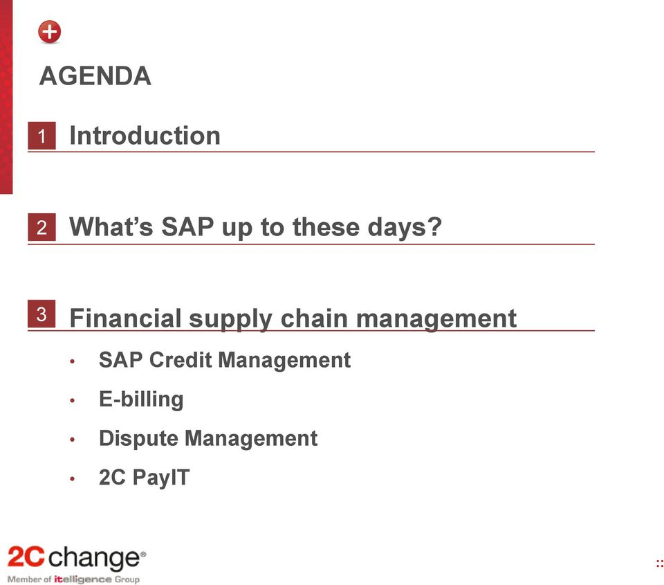 3 Financial supply chain