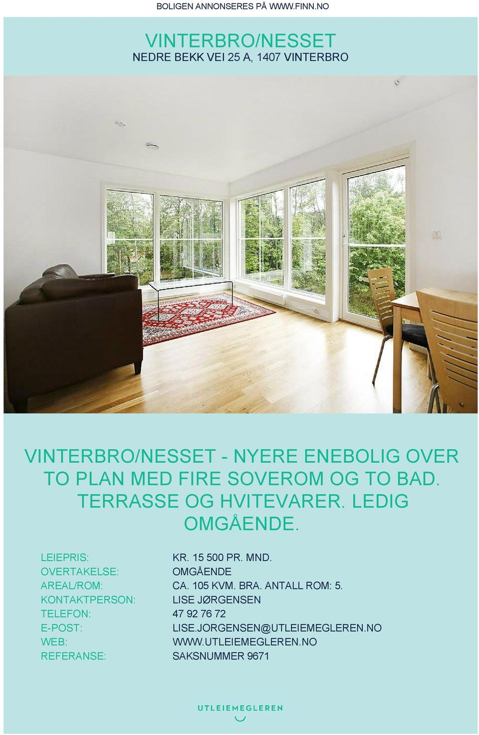 ⭐VINTERBRO/NESSET - NYERE ENEBOLIG OVER TO PLAN MED FIRE SOVEROM ...