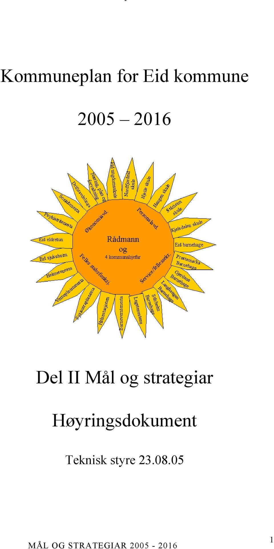 Mål og strategiar