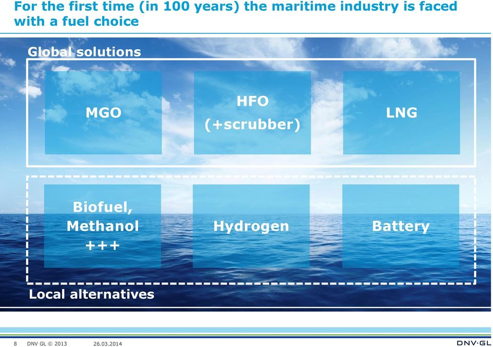 Global solutions MGO HFO (+scrubber) LNG