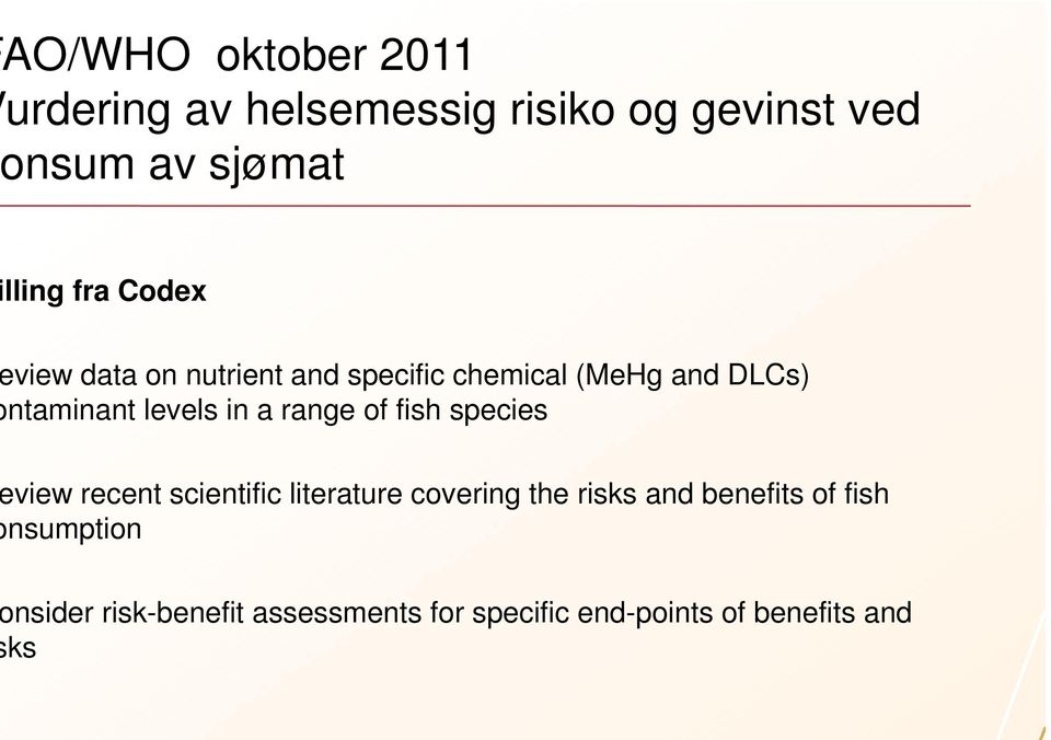 a range of fish species view recent scientific literature covering the risks and benefits
