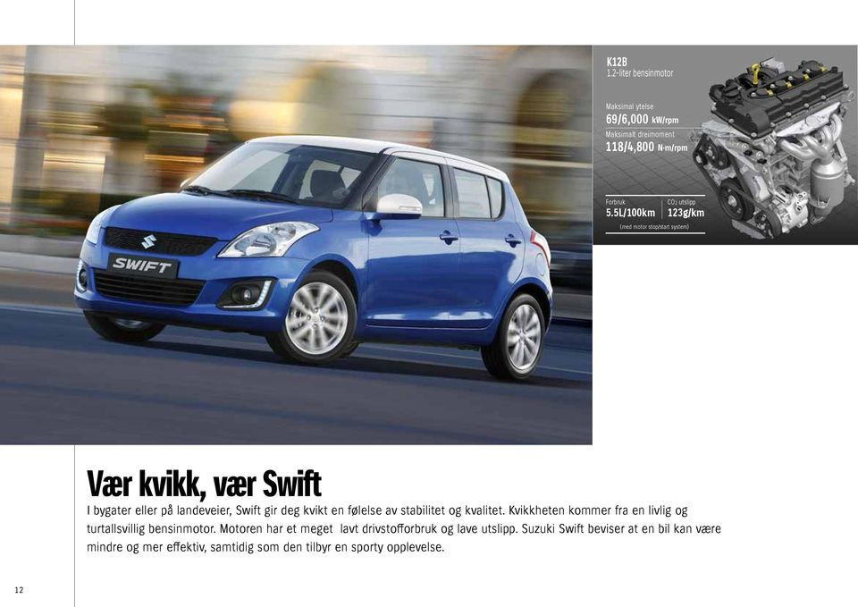 9L/100km CO2 emissions 101g/km Fuel consumption 3.8L/100km CO2 emissions 98g/km (With Engine Auto top tart system.