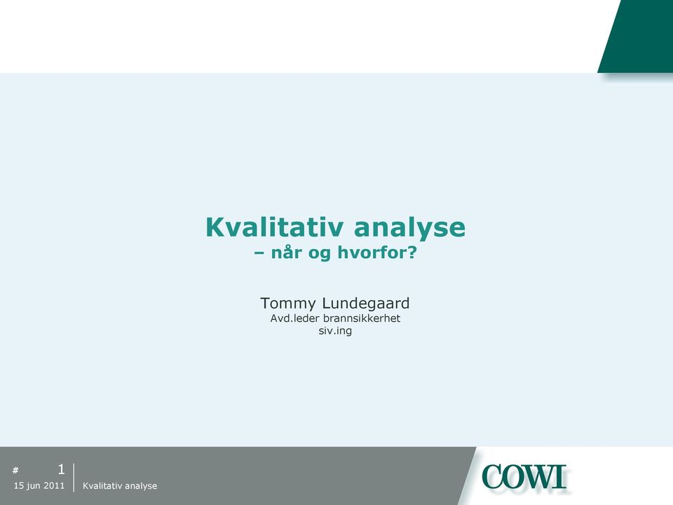 Tommy Lundegaard Avd.
