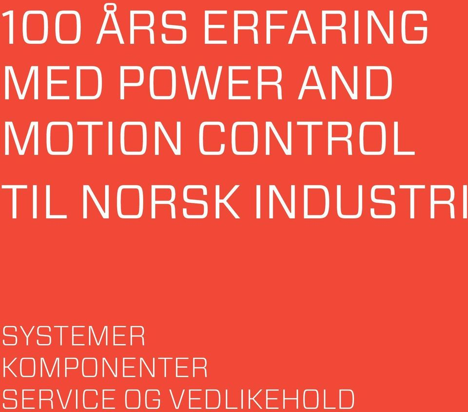 norsk industri systemer