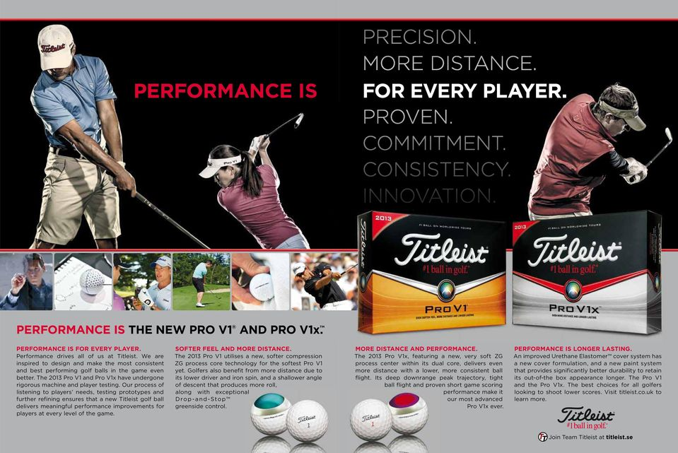 Our process of listening to players needs, testing prototypes and further refining ensures that a new Titleist golf ball delivers meaningful performance improvements for players at every level of the