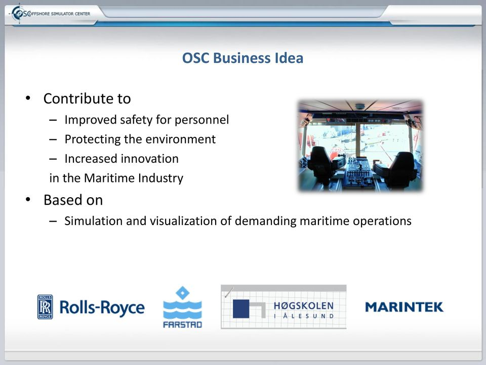 innovation in the Maritime Industry Based on