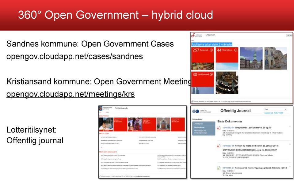 net/cases/sandnes Kristiansand kommune: Open Government