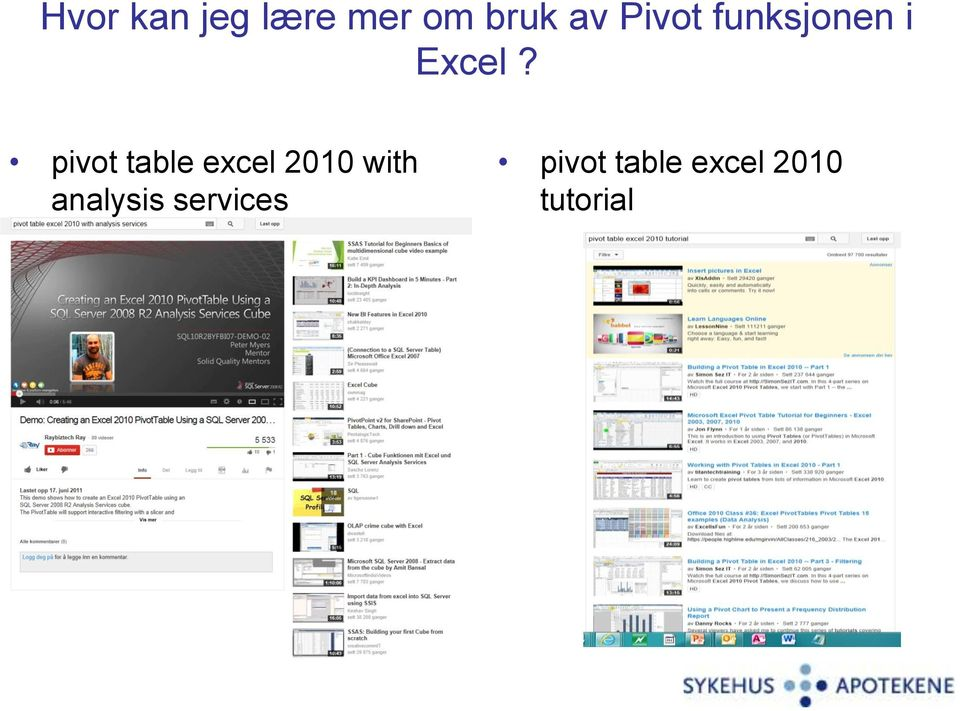 pivot table excel 2010 with