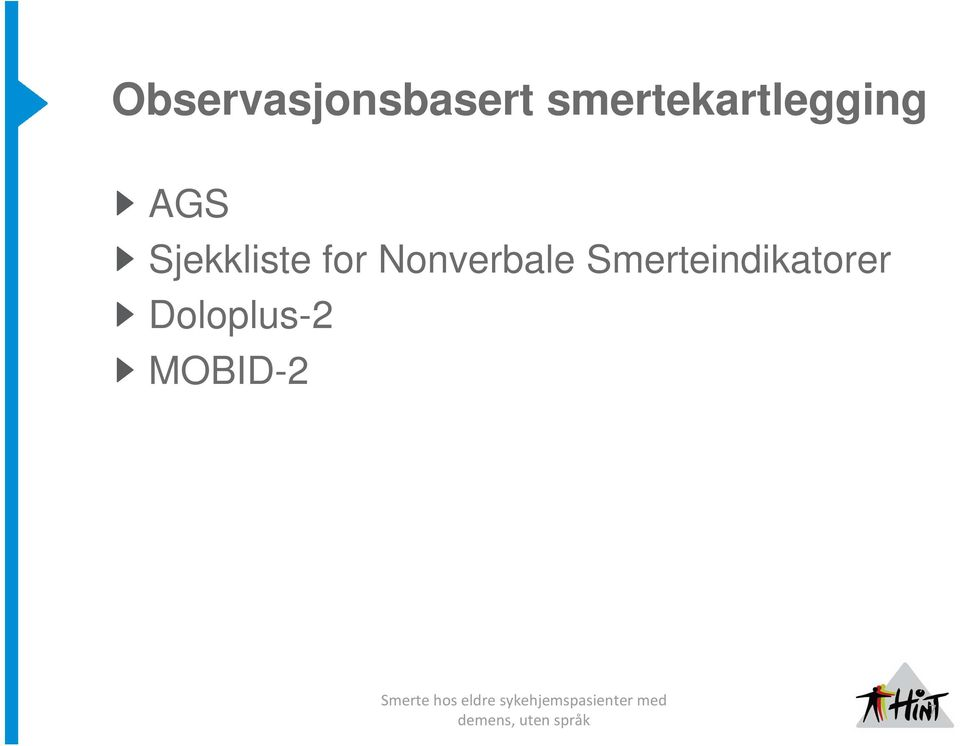 Sjekkliste for Nonverbale