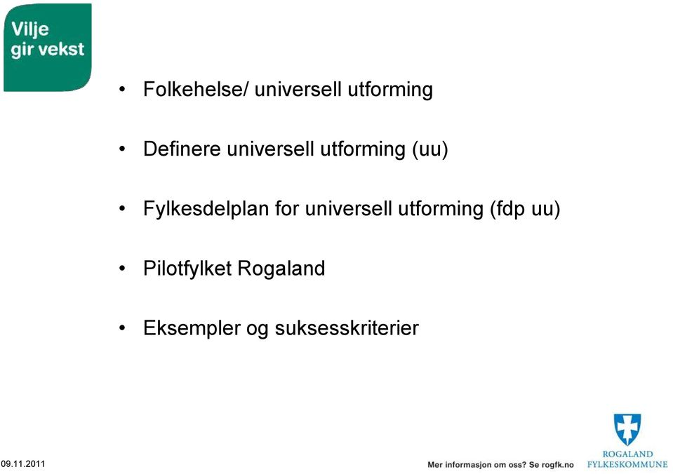 for universell utforming (fdp uu)