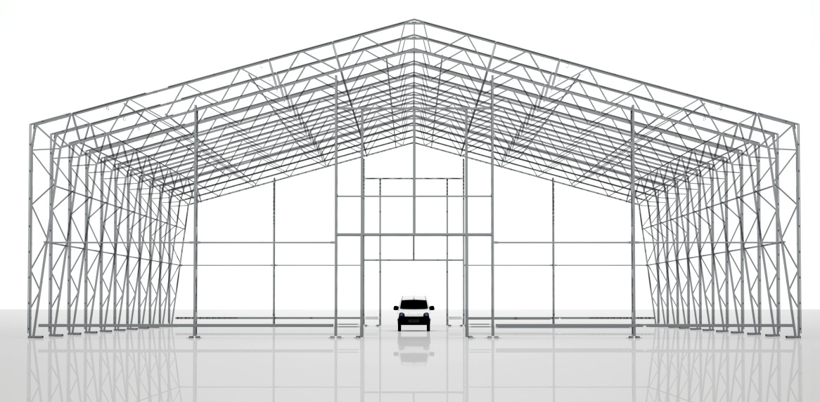 WiikHall Vision 30/ 8.0 Technical specifications (EN) Hot-dipped galvanised steel The relocatable buildings have a self-supporting truss framework which provides low weight and high stability.