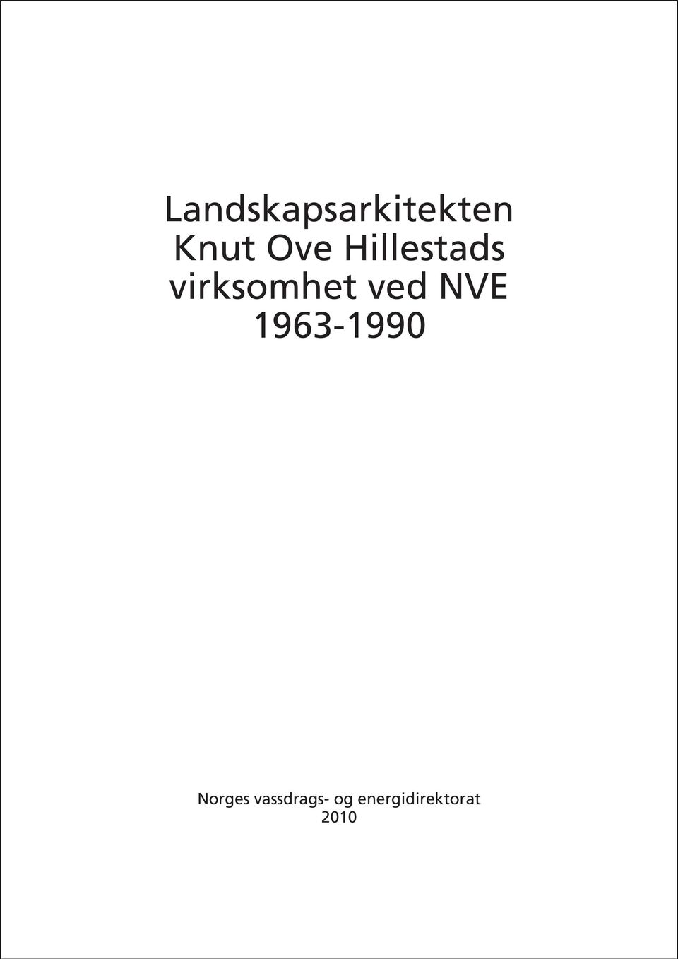 NVE 1963-1990 Norges