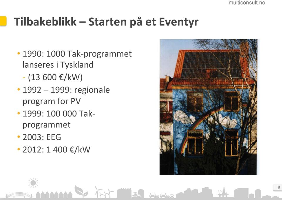 /kw) 1992 1999: regionale program for PV 1999: